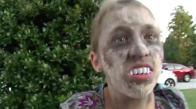kid in zombie makeup