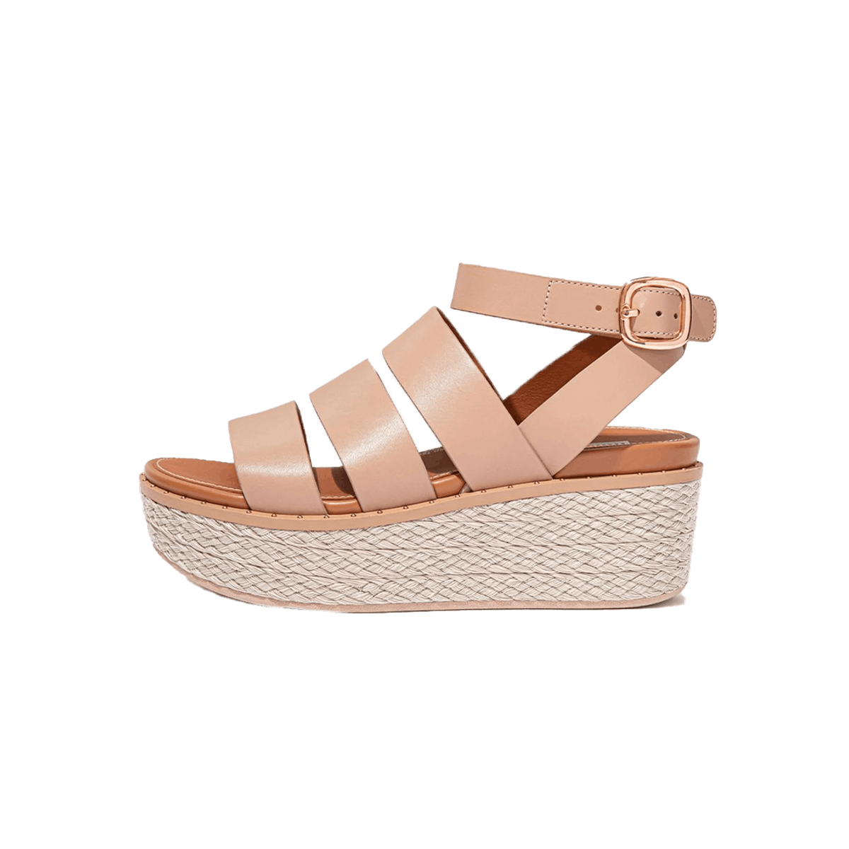 ELOISE - Espadrille Leather Wedge Sandals
