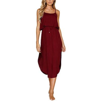NERLEROLIAN Adjustable Casual Midi Dress