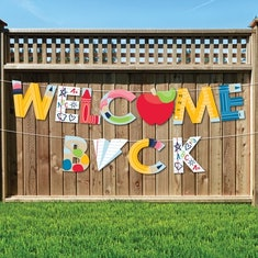 A welcome back garland is a great school decoration.