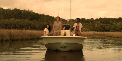 Chase Stokes, Jonathan Daviss, Madison Bailey, and Rudy Pankow in 'Outer Banks'