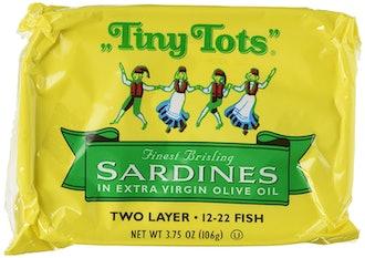 "King Oscar ""Tiny Tots"" Finest Brisling Sardines in Extra Virgin Olive Oil"