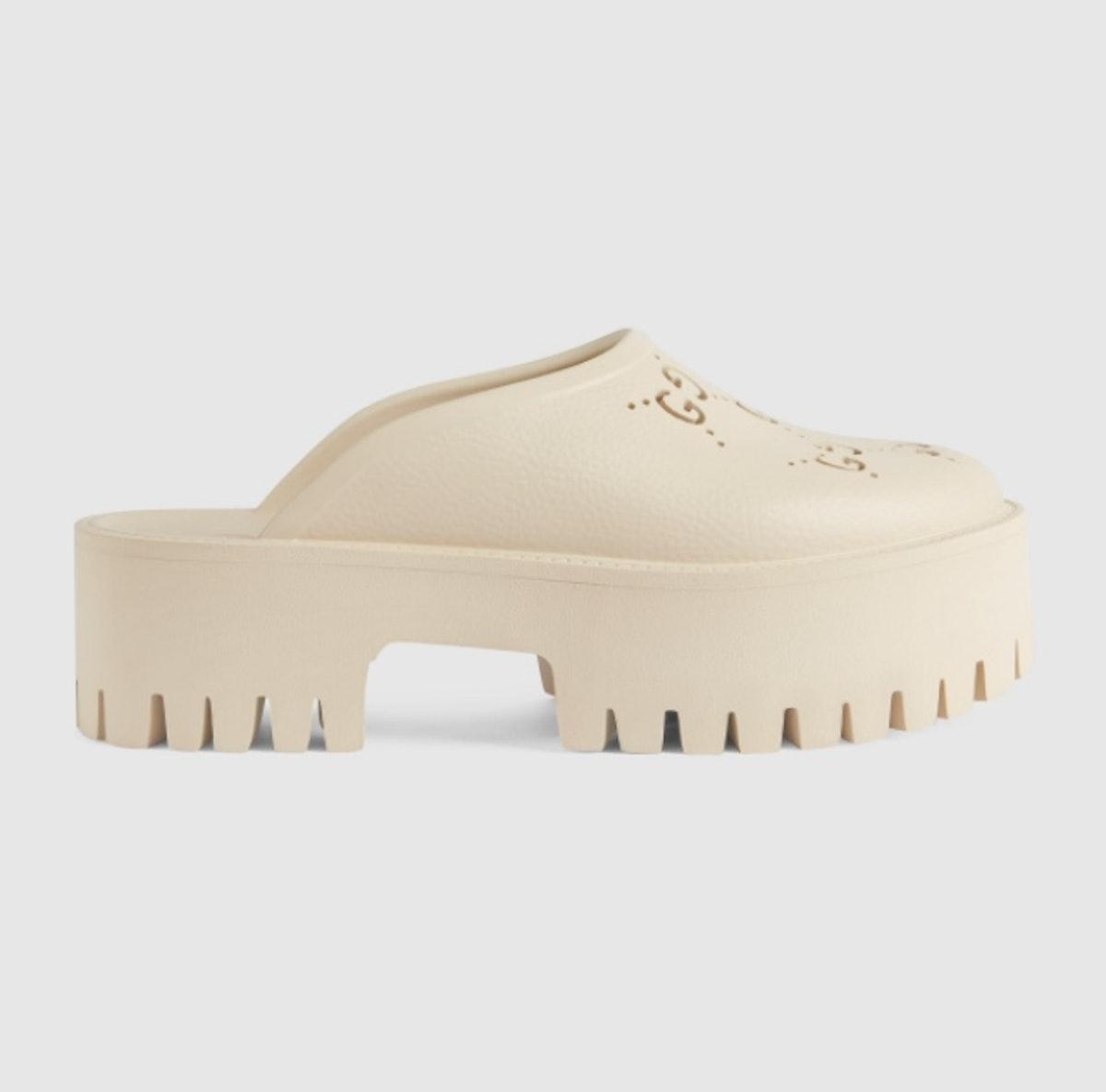 Women's Platform Perforated G Sandal