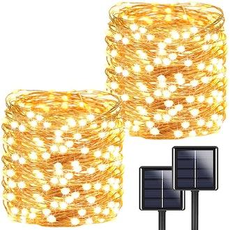 Solar String Outdoor Lights, 72-Feet, 200 LED (2-Pack)