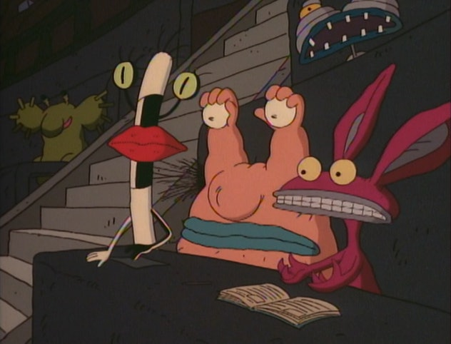Aaahh!!! Real Monsters is from the producers of Rugrats.