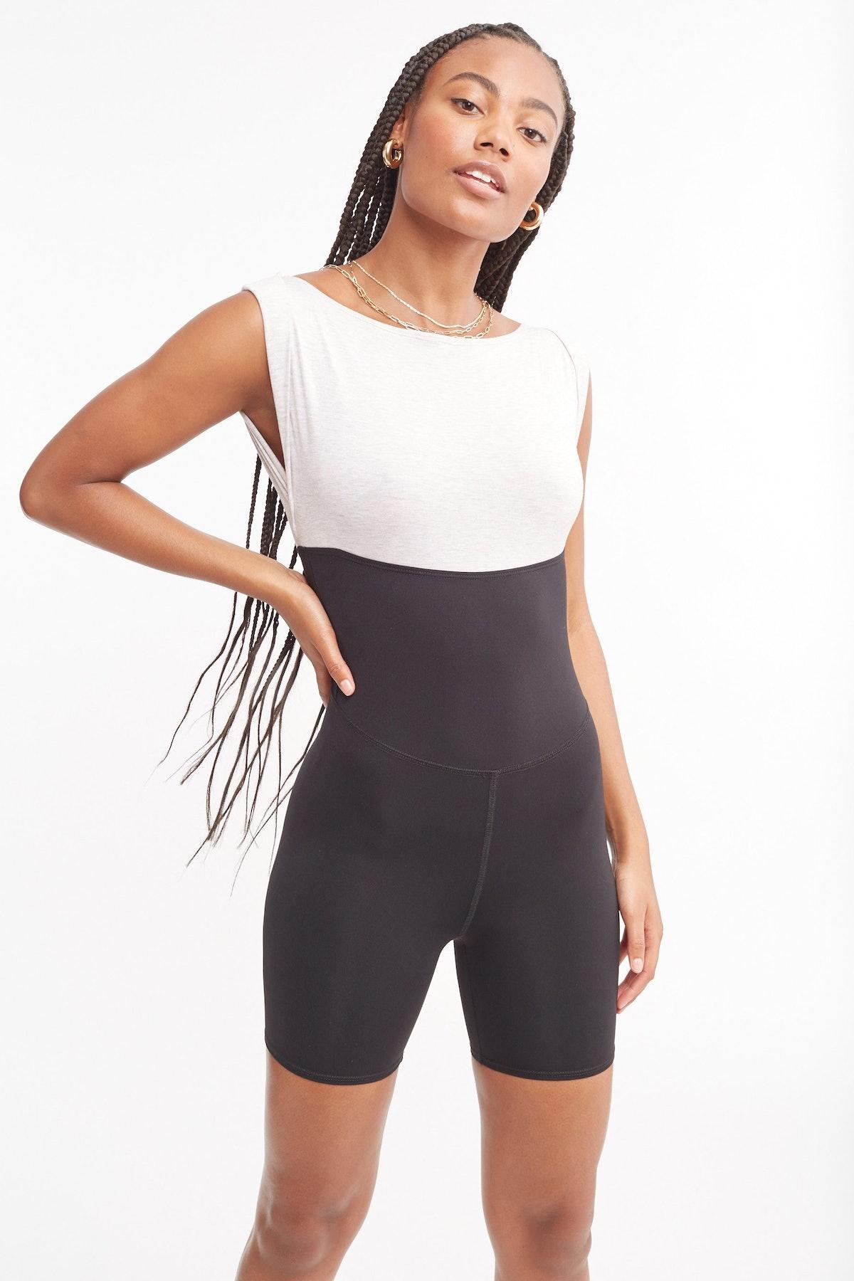 Tropic of C Movement colorblock barre bodysuit