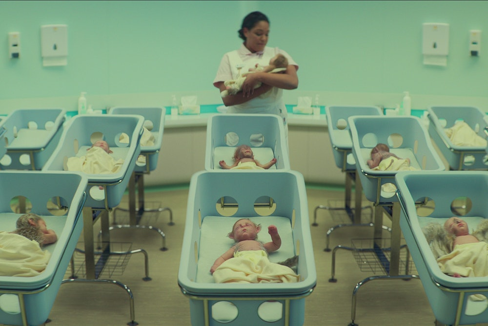 An entire hospital full of hybrid babies in Sweet Tooth.