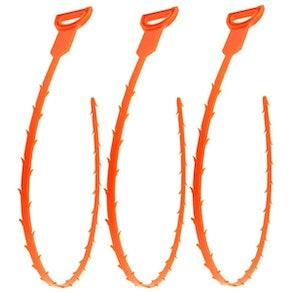 Forlivese Hair Snake Drain Tool (3-Pack)