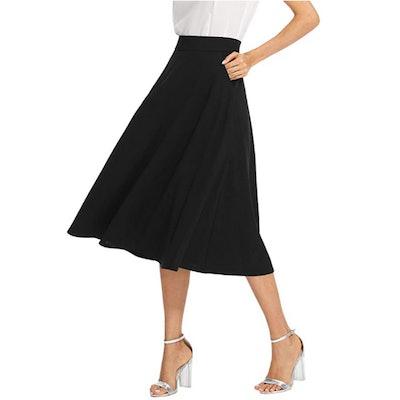 SheIn High Waist Pleated Midi Skirt