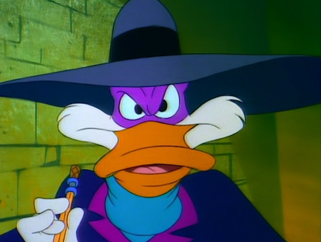 Darkwing Duck is voiced by noted voice actor Jim Cummings.