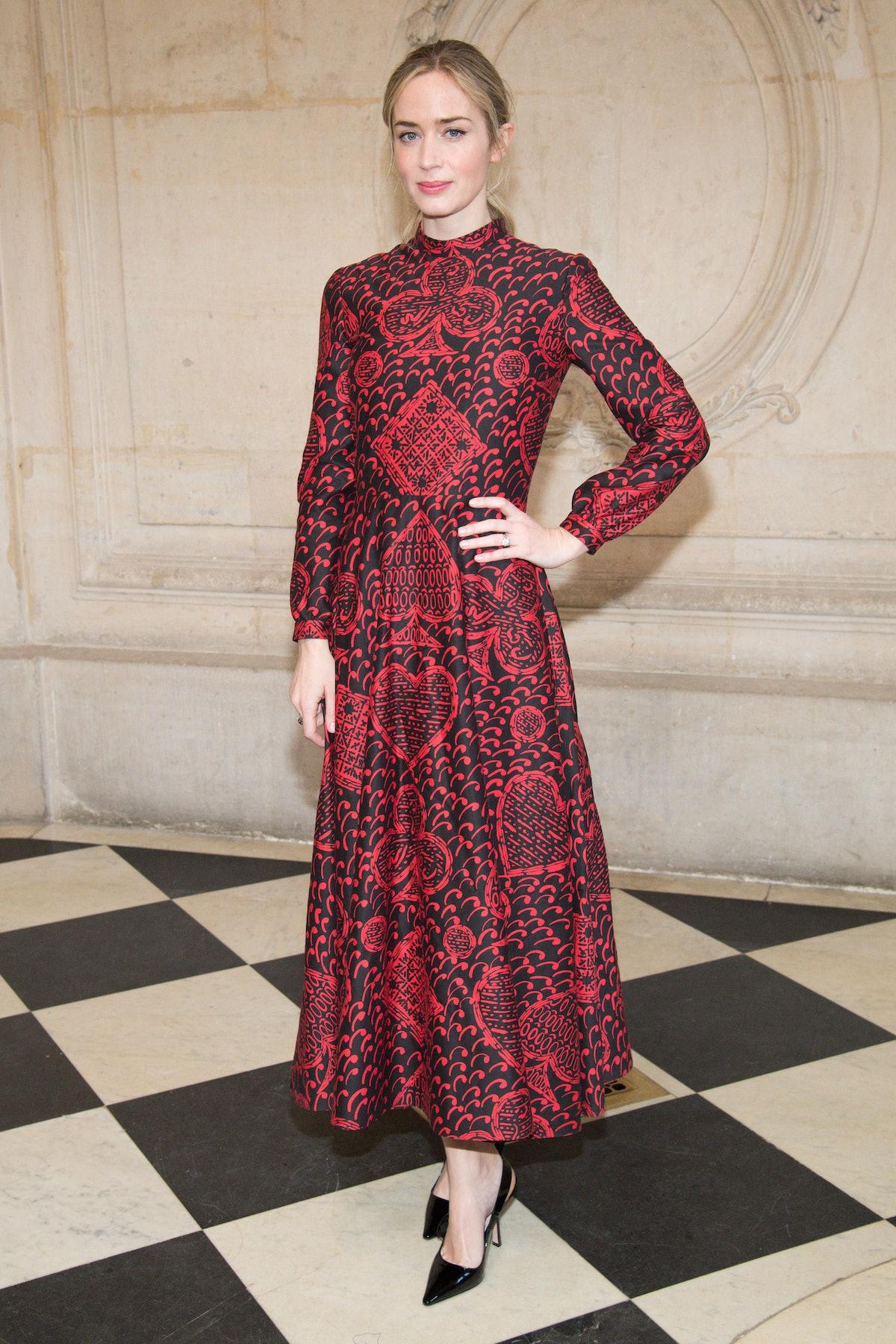 Emily Blunt in Dior.