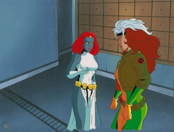 Mystique and Rogue in X-Men: The Animated Series.