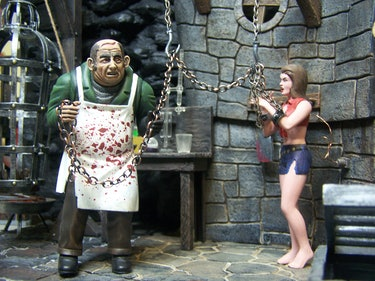 Aurora Monster Scenes model kit photo featuring Dr. Deadly and The Victim