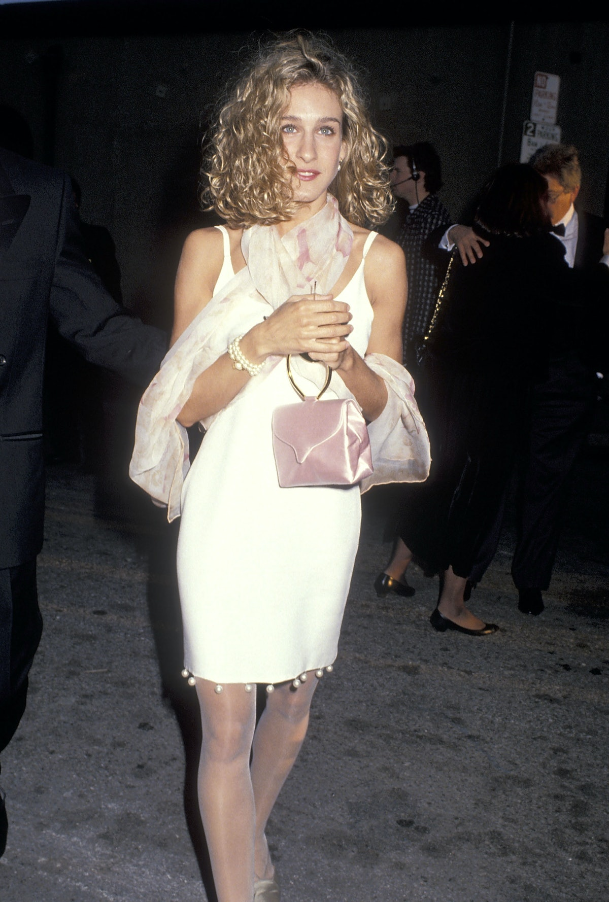 Sarah Jessica Parker with short curly hair