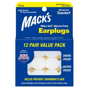 Mack's Pillow Soft Silicone Earplugs (12 Pairs)