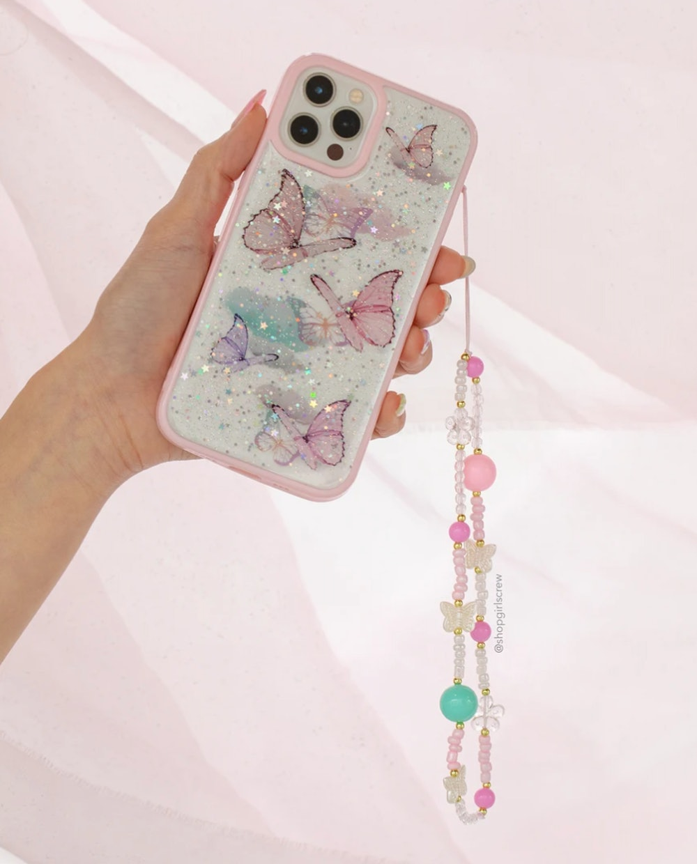 Butterfly Tingles Beaded Phone Charm