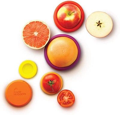 Food Huggers Reusable Silicone Food Savers (5-Pack)
