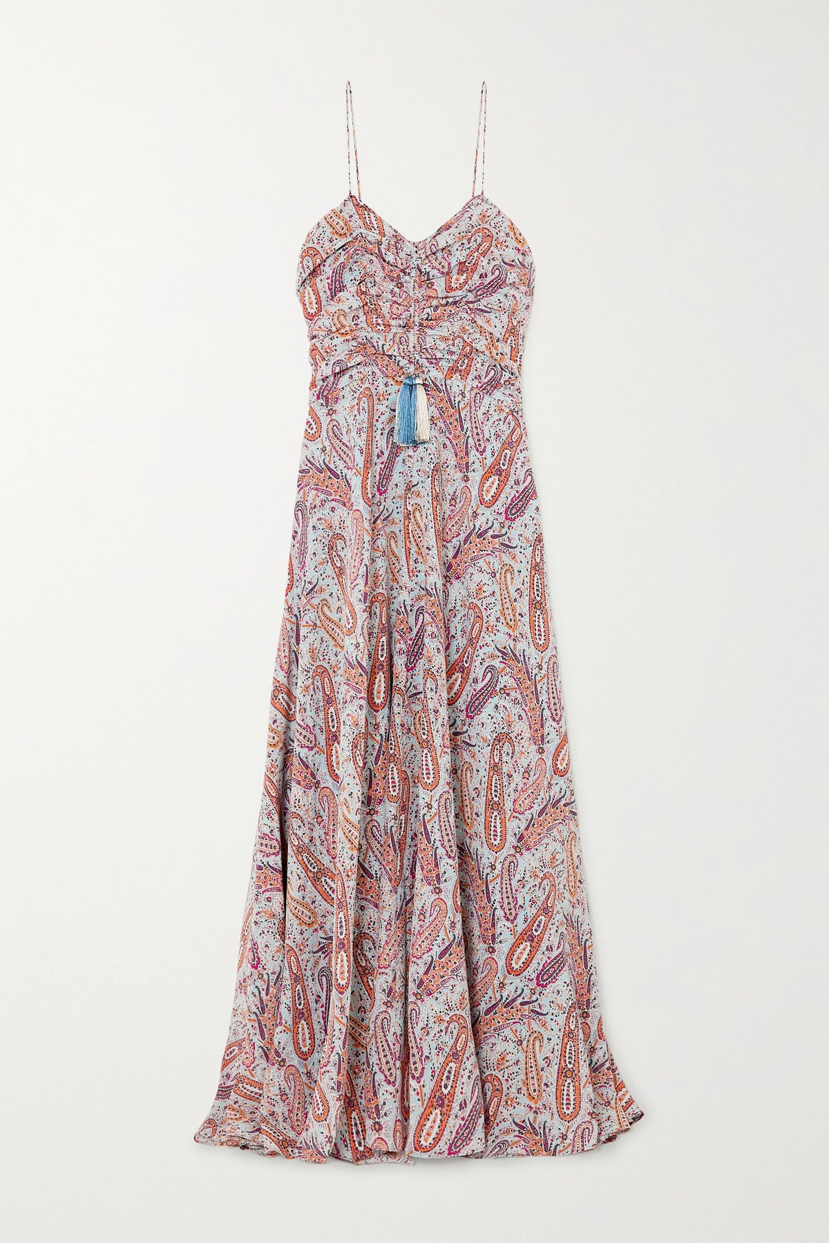 Tasseled paisley-print silk crepe de chine maxi dress from ETRO, available on Net-a-Porter.