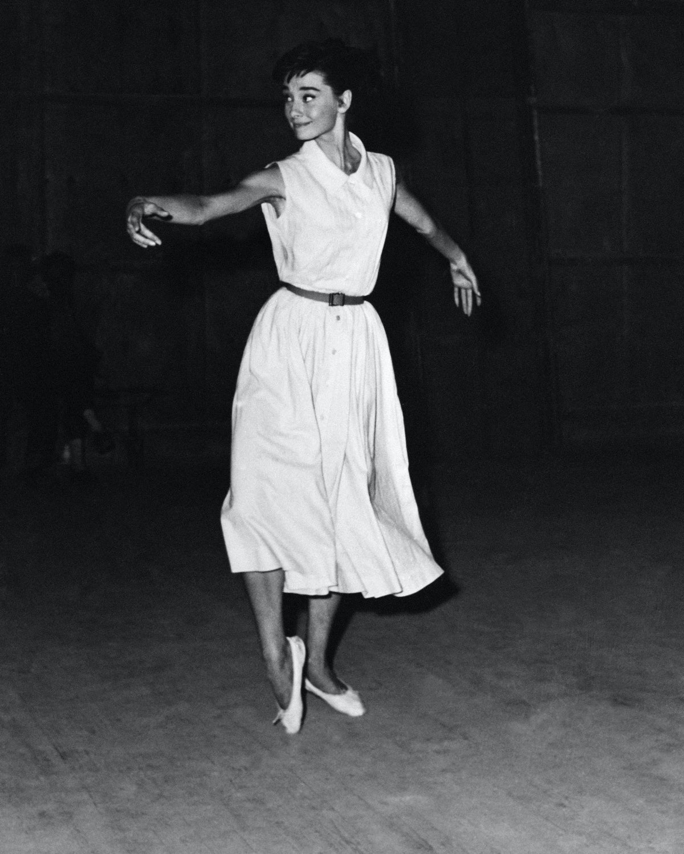 Audrey Hepburn in ballet flats