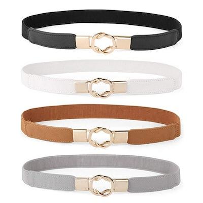 WERFORU Skinny Stretch Belt (Set of 4)