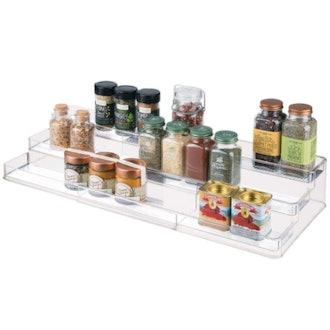 mDesign Expandable Spice Shelf