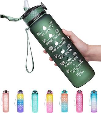 Venture Pal 32oz Motivational Fitness Sports Water Bottle