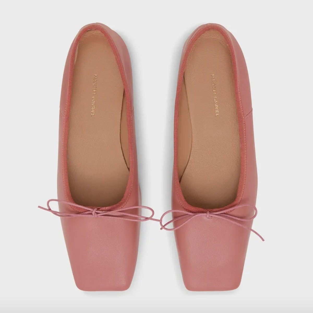 mansur gavriel pink ballet flats