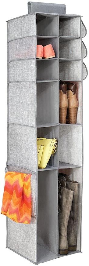 mDesign Hanging Closet Organizer