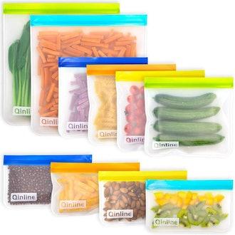 Qinline Reusable Food Storage Bags (10 Pack)