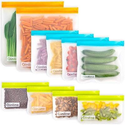 Qinline Reusable Food Storage Bags (10-Pack)