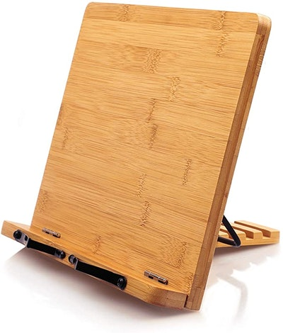 Pipishell Bamboo Book Stand Cookbook Holder