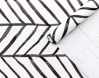 HaokHome Modern Stripe Peel and Stick Wallpaper