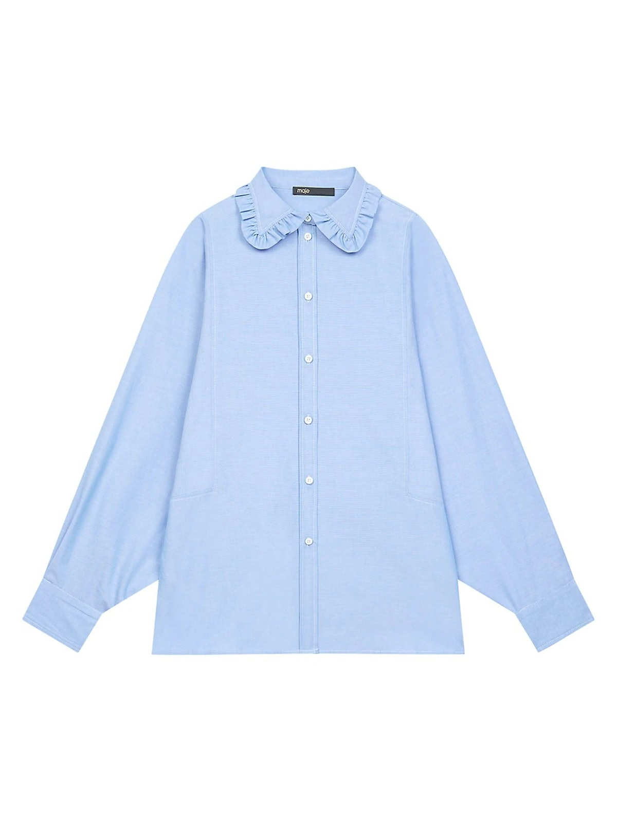 Ruffled Peter Pan Collar Shirt from Maje, available on Saks Fifth Avenue.