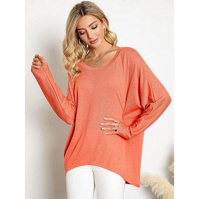ZANZEA Oversized Pullover Sweater