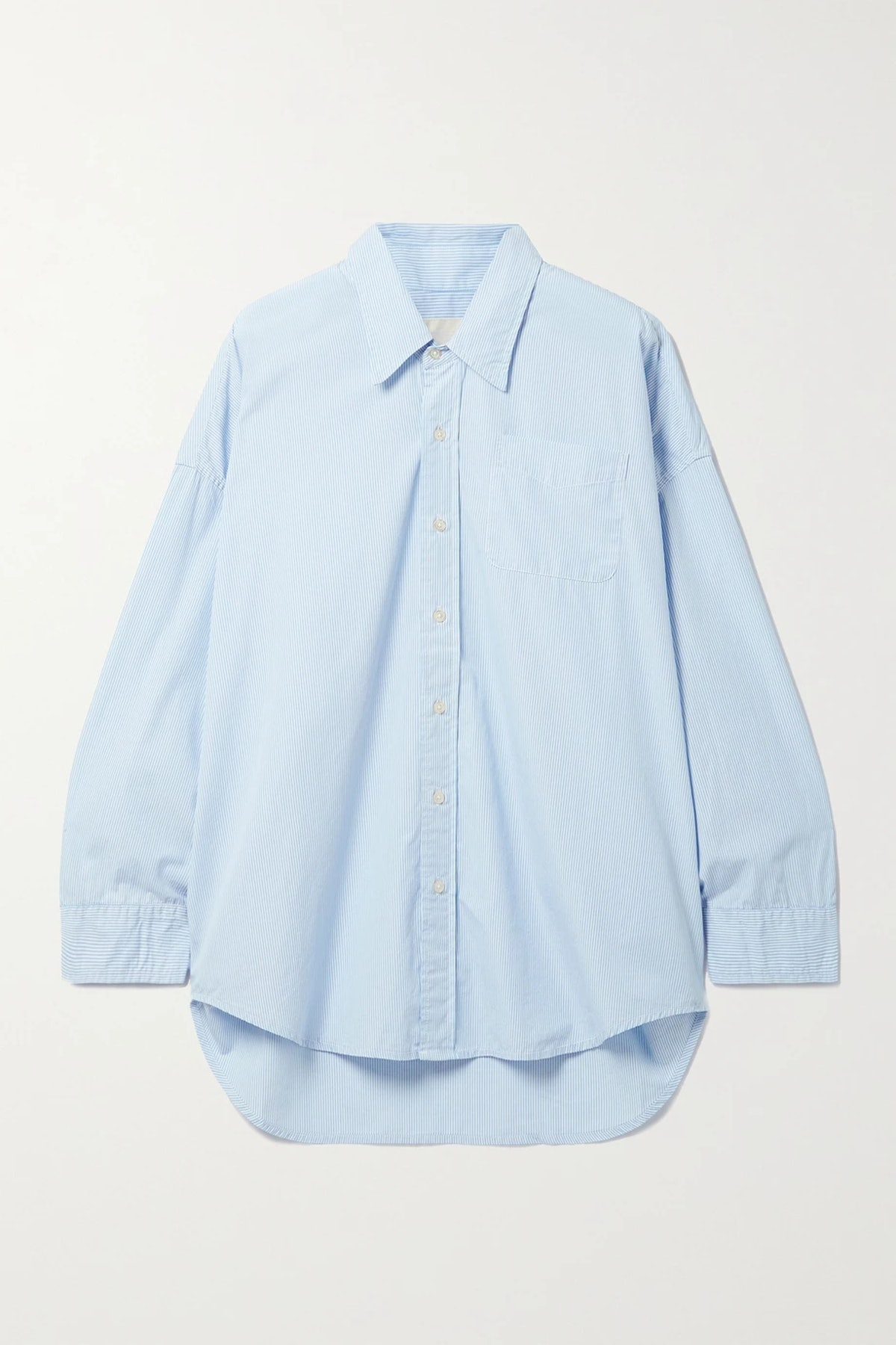 Oversized striped cotton Oxford shirt from R13, available on Net-a-Porter.