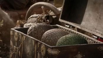 Daenerys' dragon eggs in Game of Thrones