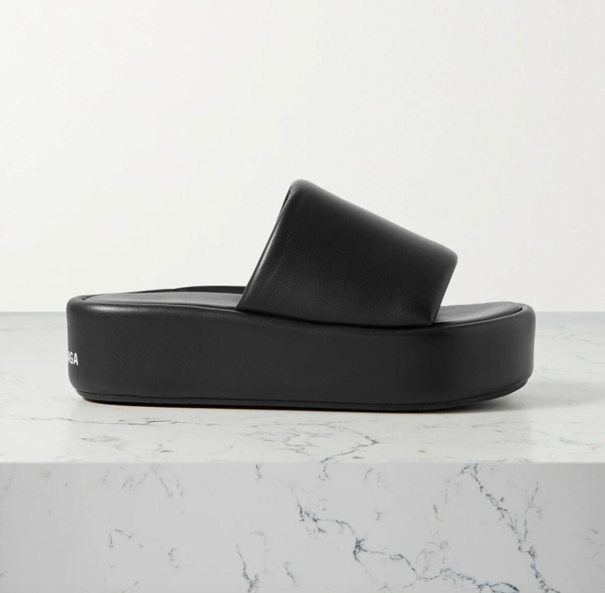 balenciaga black platform sandals