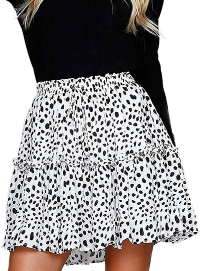 Alelly High Waist Ruffle Skirt