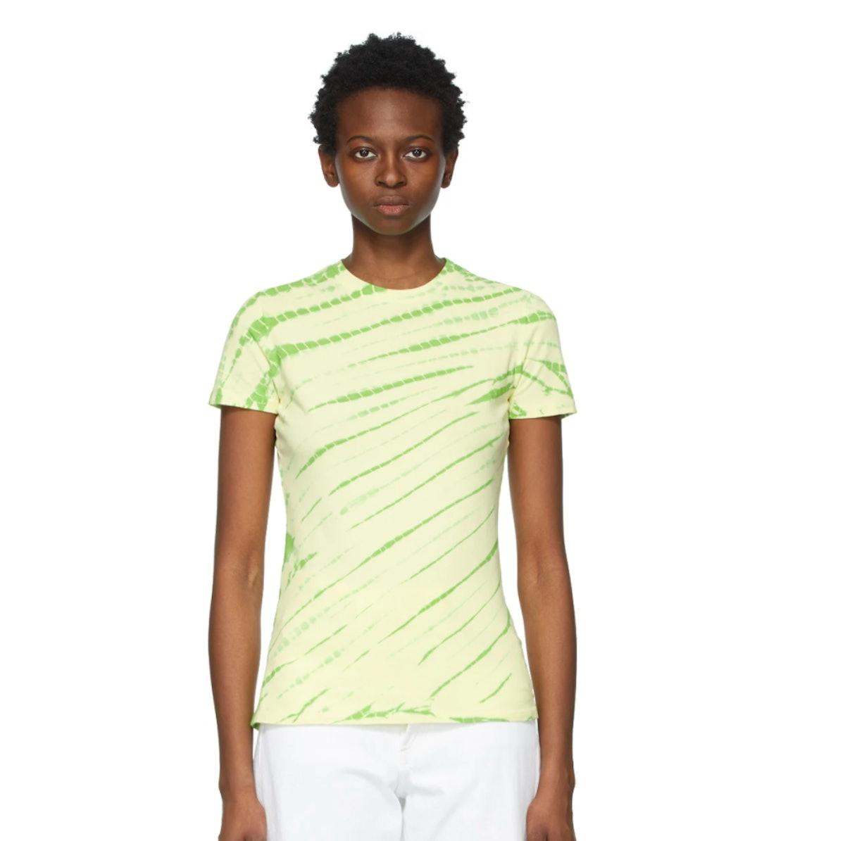 Proenza Schouler green Tie-Dye T-Shirt