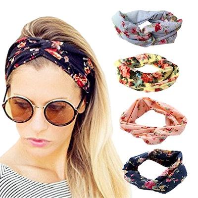 DRESHOW Vintage Headbands (4-Pack)