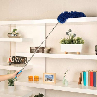 HEOATH Microfiber Feather Duster with Extendable Pole
