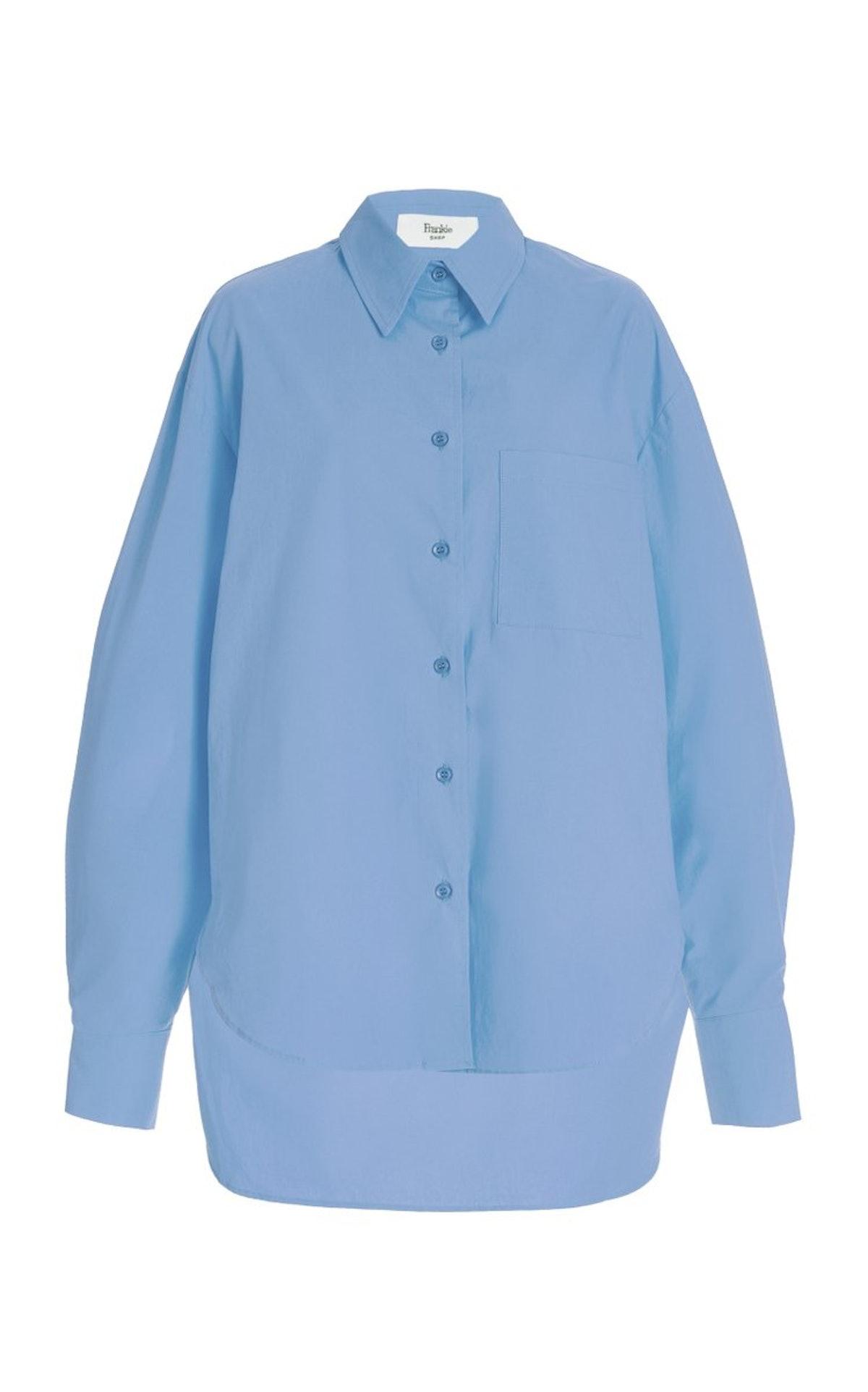 Lui Oversized Organic Cotton Shirt from The Frankie Shop, available on Moda Operandi.
