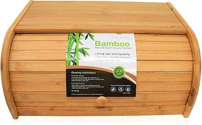 RoyalHouse Bamboo Roll Bread Box