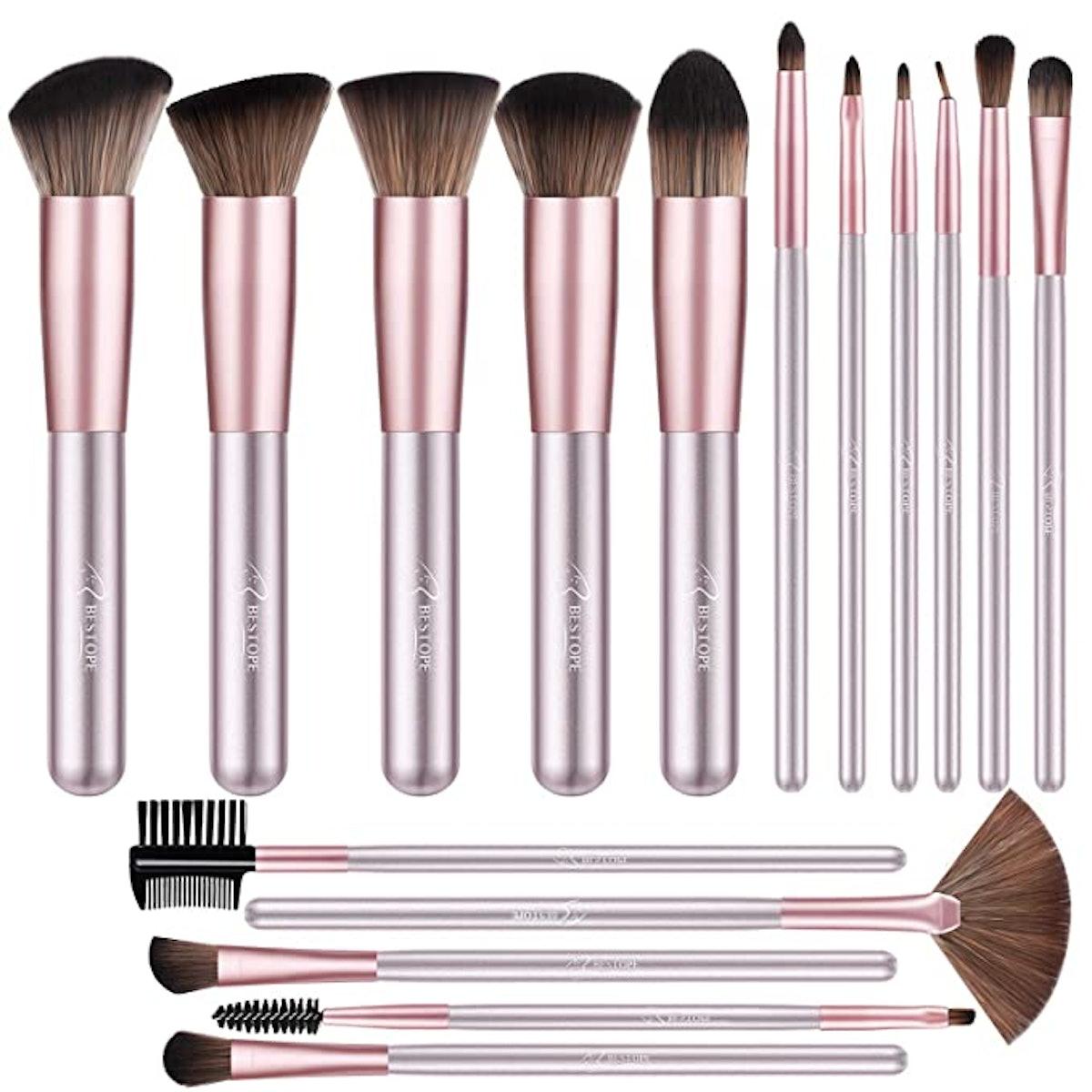 BESTOPE Makeup Brush Set (16-Piece Set)