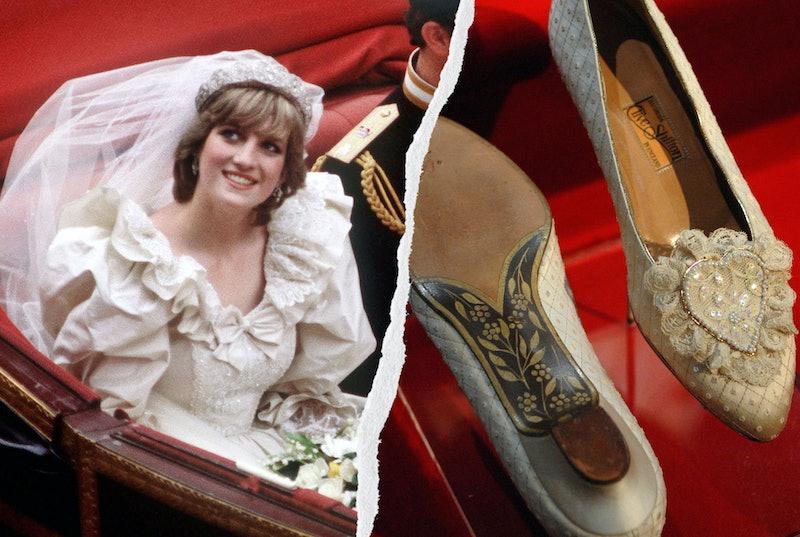Princess Diana's wedding shoes