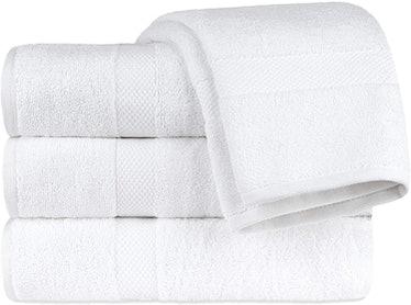 White Classic Luxury Bath Towels (Set of 4)