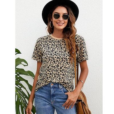 BMJL Leopard Print T Shirt