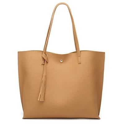 Dreubea Faux Leather Tassel Handbag