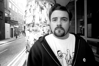 Filmmaker Kevin Smith marks a birthday today, August 2, 2021. Here's a photo of him in 1994.