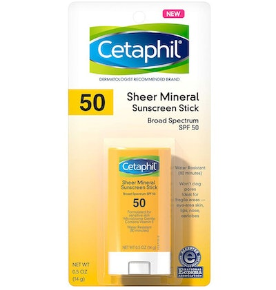 Cetaphil Sheer Mineral Sunscreen Stick for Face & Body Broad Spectrum SPF 50